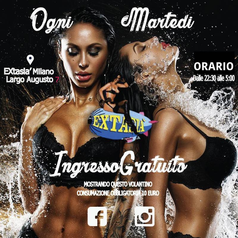 Extasia disco topless lap dance night milano